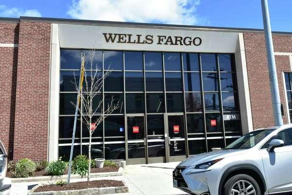 A Wells Fargo branch in April 2018 on Sound Beach Avenue in Greenwich, Conn.