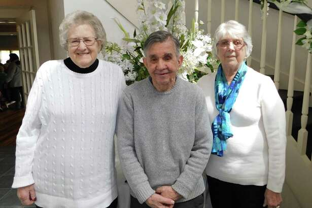 Charlotte Hungerford Hospital volunteers honored at this year's appreciation luncheon included, from left, Daphne Bobinski with 7,000 hours of service, Edward Potter with 13,000 hours of service, and Mary Yorker with 5,000 hours of service.