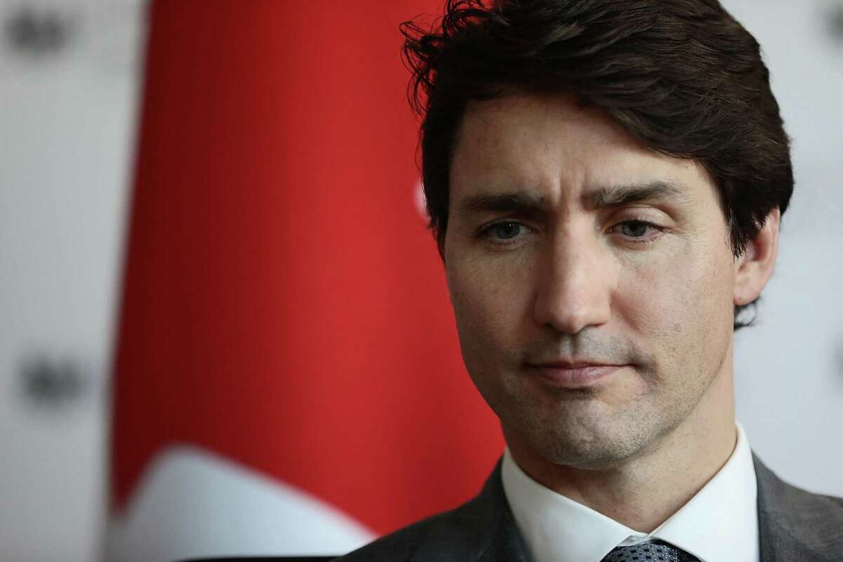 LONDON, ENGLAND - APRIL 18: Canadian Prime Minister Justin Trudeau attends a meeting at the National Cyber Security Centre on April 18, 2018 in London, England. (Photo by Jack Taylor/Getty Images)