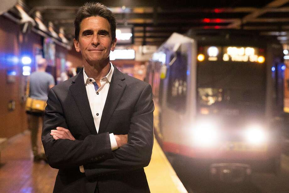 Mayoral candidate Mark Leno stands inside the Castro Muni Station. He wants to tax the ride-hail companies such as Uber and Lyft. Photo: Jessica Christian / The Chronicle