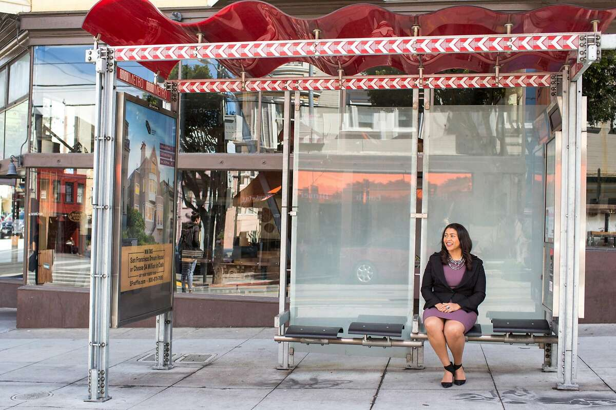London Breed, San Francisco mayoral candidate, poses for a portrait at the Muni stop near the intersection of Carl and Cole streets in Cole Valley. San Francisco Calif., on Monday, April 16, 2018.