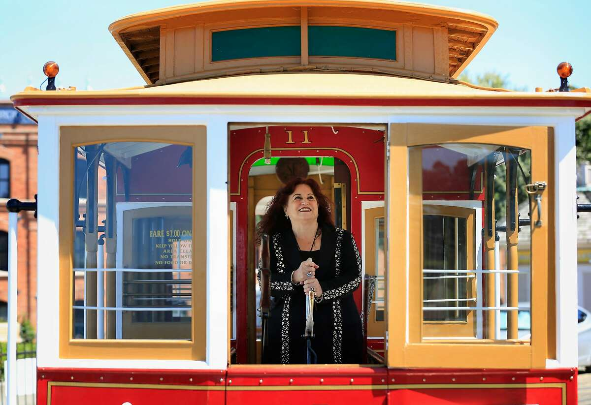 Mayoral candidate Angela Alioto stands for portrait at the cable car turnaround at Hyde and Beach Streets on Thursday, April 19, 2018, in San Francisco, Calif.