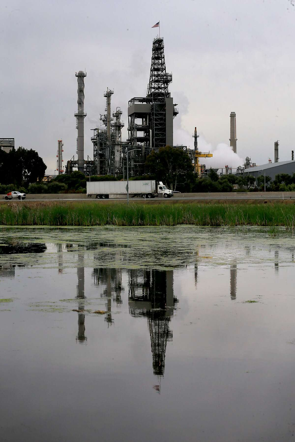 The Shell refinery in Martinez, Calif., as seen on Wed. April 18, 2018.