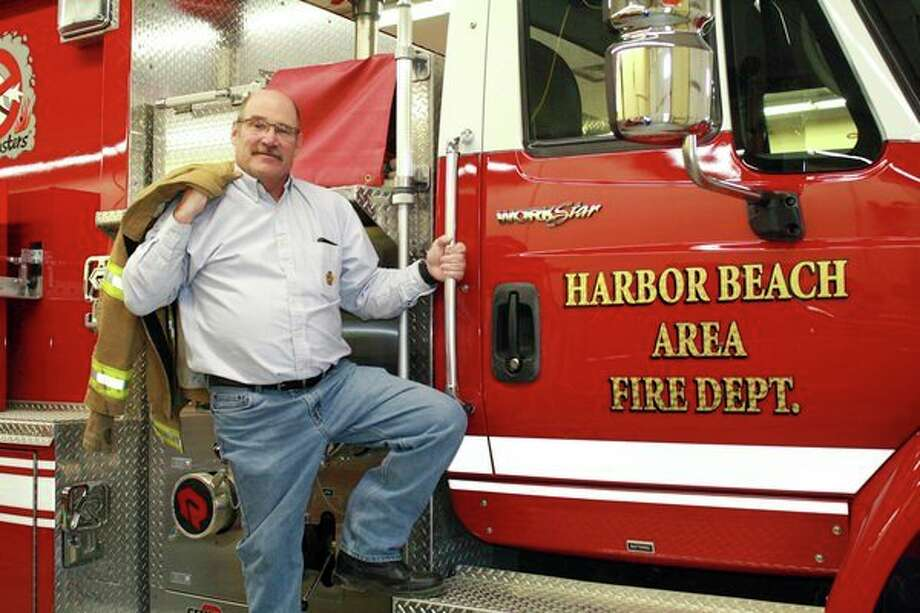 Harbor Beach Fire Chief J.P. Lermont is calling it a career after more than 40 years of service with the department. (Rich Harp/For the Tribune)
