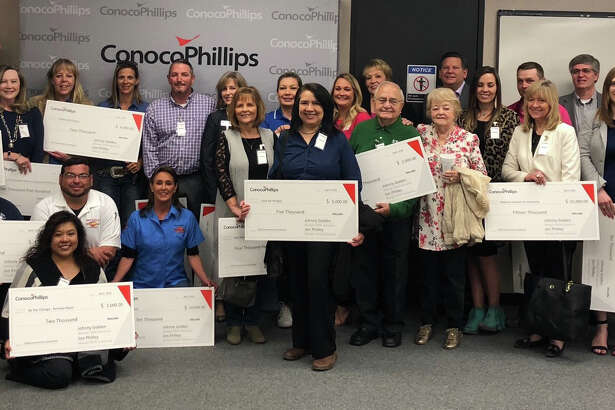 ConocoPhillips presented its annual charitable grants in Midland this week. The company presented $200,000 in grants to 35 organizations in Andrews, Ector, Eddy, Lea, Midland and Wink counties.