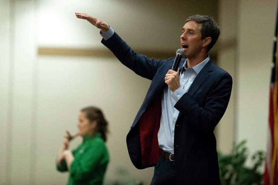 O'Rourke during a town hall in Denton, Texas on Friday, April 20, 2018. Photo: Jake King, Associated Press / Denton Record-Chronicle
