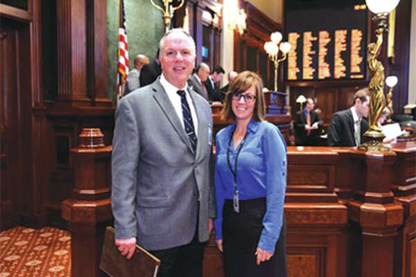 Rev. Doctor James R. Brooks of First Christian Church (Disciples of Christ) in Edwardsville delivered the opening invocation to the Illinois House of Representatives as a guest of state Rep. Katie Stuart.