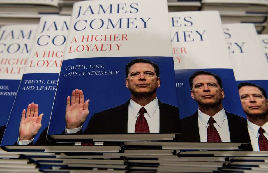 "Copies of ""A Higher Loyalty,"" the new memoir by former FBI Director James Comey, have been a big hit in bookstores throughout America and abroad. Comey recently called Donald Trump ""morally unfit"" to be president. A reader agrees. Photo: Chris J Ratcliffe /Getty Images / 2018 Getty Images"