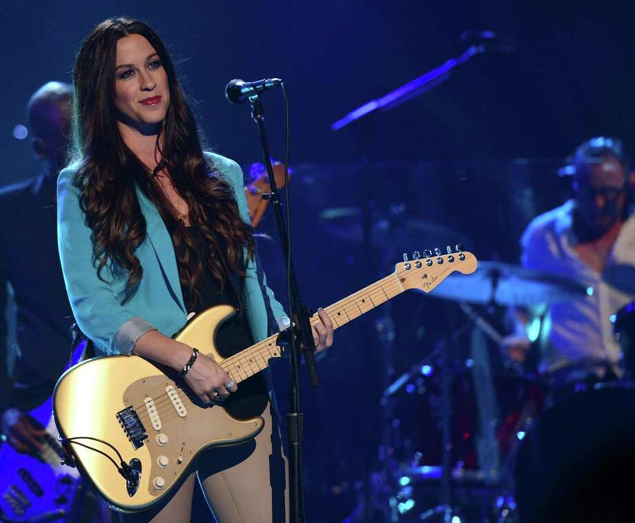 "Alanis Morissette performs at the MDA Show of Strength held at CBS Television City on August 9, 2012, in Los Angeles. Critics find it ironic that her hit song, ""Ironic,"" contains no irony. Photo: Mark Davis /Getty Images / 2012 Getty Images"