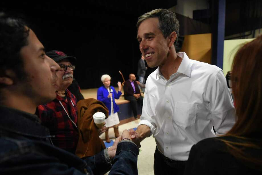 Beto O'Rourke, US Representative from El Paso, stopped in Midland on his campaign for US Senate, April 7, 2018, at the MLK Center.  James Durbin/Reporter-Telegram Photo: James Durbin / James Durbin / © 2018 Midland Reporter-Telegram. All Rights Reserved.