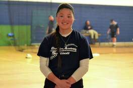 Cheshire Academy's Aliya Catanzarita plays softball and has committed to play at Hofstra University. She was adopted when she was very young from Kazakhstan.