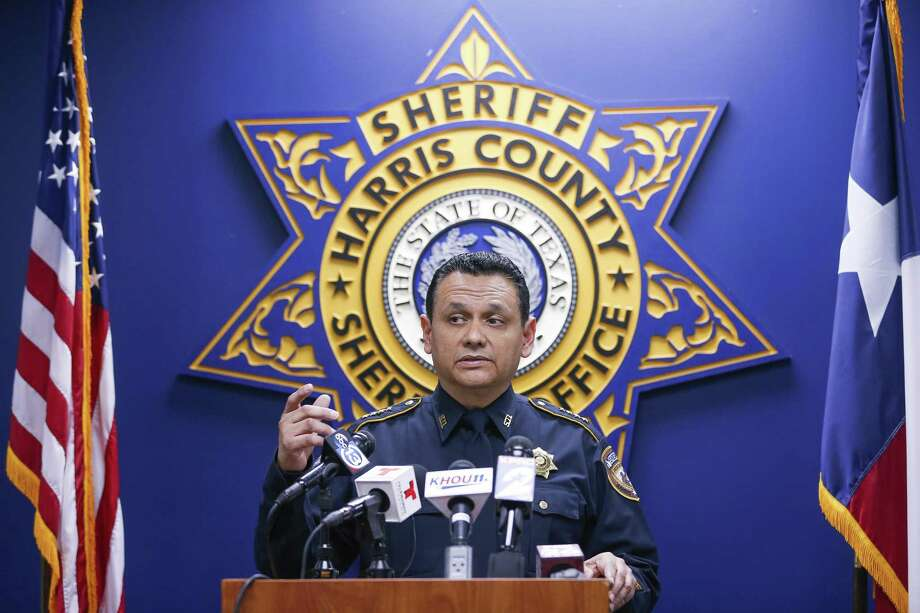 Harris County Sheriff Ed Gonzalez speaks to reporters while releasing dash cam video of the fatal deputy-involved shooting of Danny Ray Thomas Monday, March 26, 2018 in Houston. (Michael Ciaglo / Houston Chronicle)