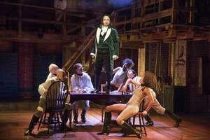 "Lin-Manuel Miranda as Alexander Hamilton in ""Hamilton"" on Broadway."