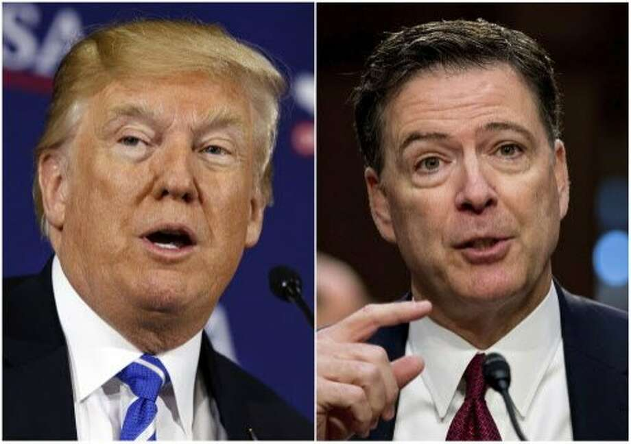 President Trump, left, and former FBI Director James Comey. Photo: Photos By Associated Press