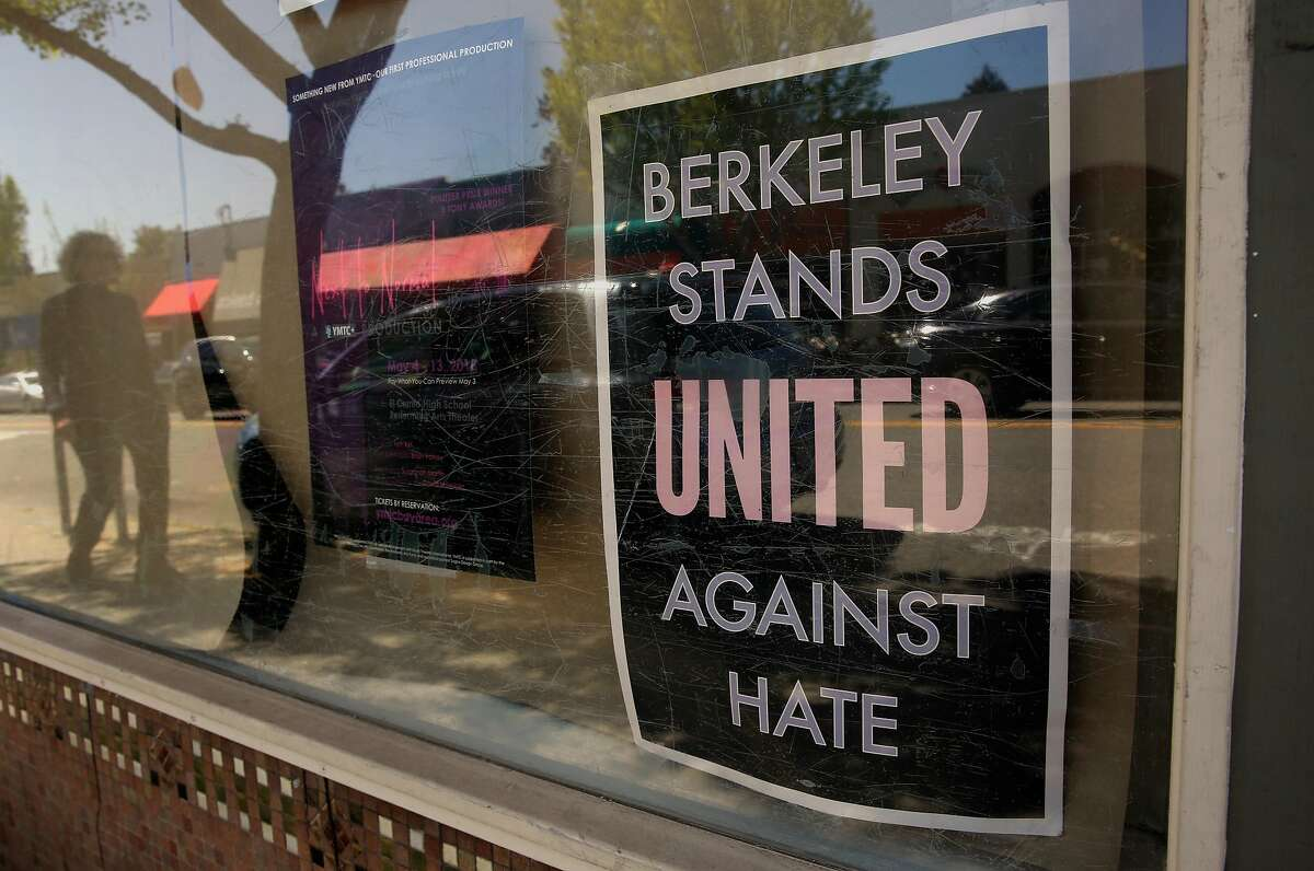 A sign in the front window of the Elmwood Cafe on College Ave. Signs on the front door announced the sudden closure of the Cafe as seen on Fri. April 20, 2018, in Berkeley, Calif.