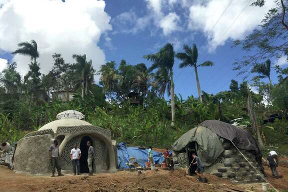 The Earthship site at TainaSoy Apiario in Aguada, Puerto Rico. It's the first on the island.