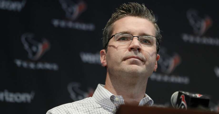 Texans GM Brian Gaine will keep a close on eye on first and second round of draft to see if a key prospect falls to entice team to trade up to land. Photo: Karen Warren/Houston Chronicle