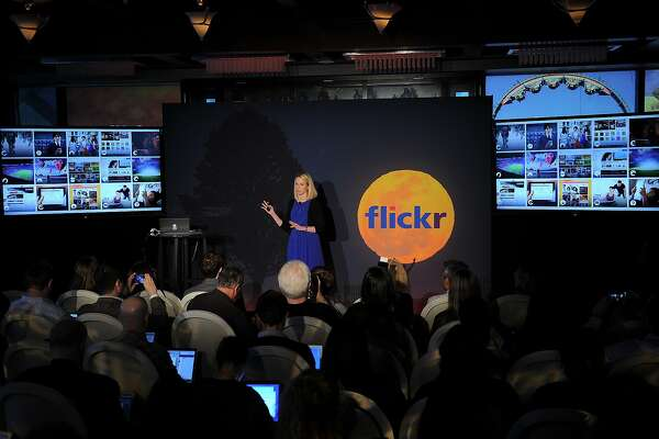 Yahoo CEO Marissa Mayer speaks during an announcement that Yahoo acquired the Tumblr blogging site in order to upgrade its Flickr site, in New York, May 20, 2013. Yahoo announced a $1.1 billion deal for blogging site Tumblr aiming to help Yahoo to tap into the younger, active online user base at Tumblr. AFP PHOTO/Emmanuel DunandEMMANUEL DUNAND/AFP/Getty Images