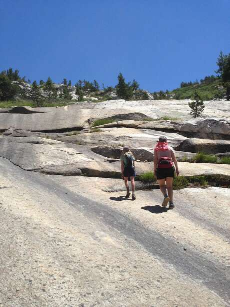 The author and her daughter take a day hike from Vogelsang and climb up to Gallison Lake. Photo: Eric Gustafson
