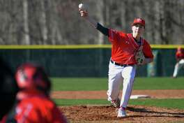 Baseball action between Fairfield Prep and Foran in Milford, Conn., on Friday Apr. 20, 2018.