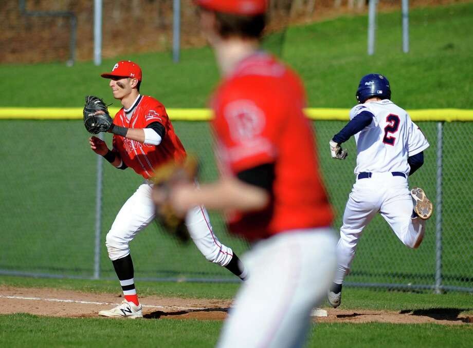 Baseball action between Fairfield Prep and Foran in Milford, Conn., on Friday Apr. 20, 2018. Photo: Christian Abraham / Hearst Connecticut Media / Connecticut Post