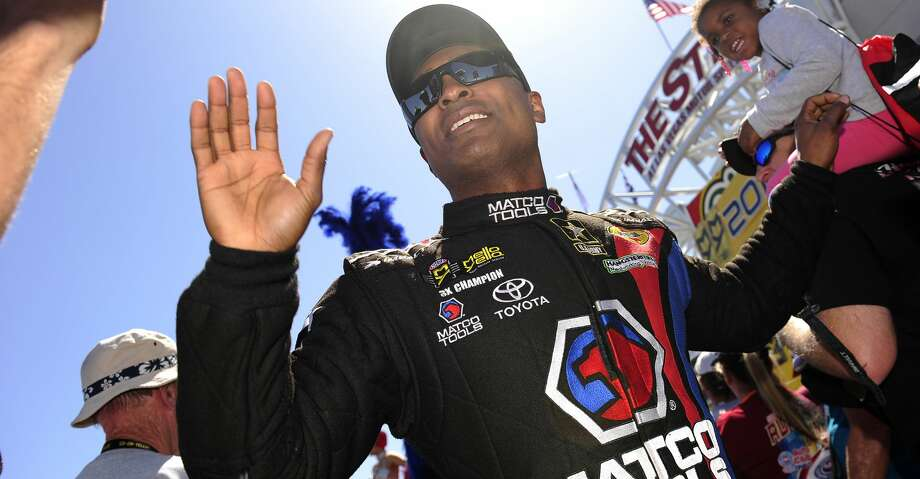 Another milestone is on the horizon for the driver of the Toyota-sponsored Matco Tools dragster. This weekend, Antron Brown is seeking his 50th career Top Fuel victory. Photo: Icon Sportswire/Icon Sportswire Via Getty Images