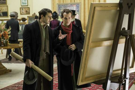 """Alex Rich (Pablo Picasso) with T.R. Knight (Max Jacob) in season two of National Geographic's """"Genius."""""""
