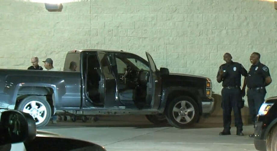 An allegedly drunk driver crashed into the wall of a Walmart overnight. Photo: Metro Video
