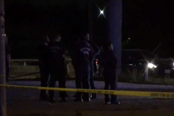 Two men were found shot to death after a drive-by early Sunday.