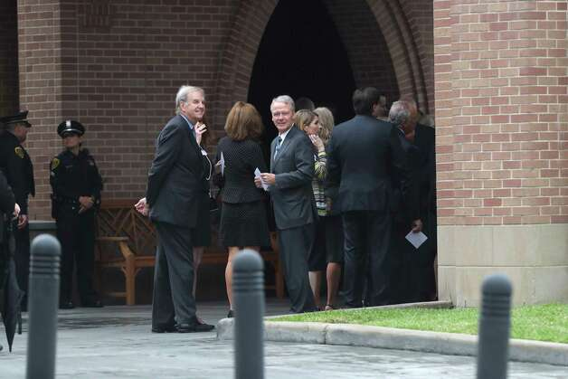 Guests arrive to St. Martin's Episcopal Church the morning of former First Lady Barbara Bush's funeral service, Saturday, April 21, 2018. Photo: Marie D. De Jesus