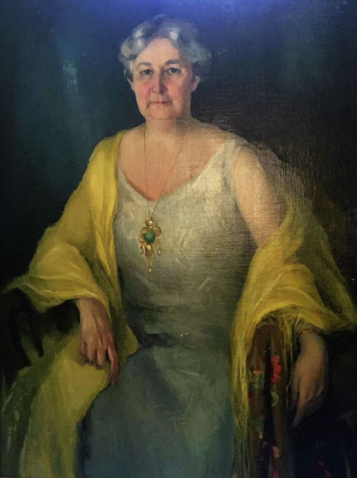 Portrait of Mrs. Ethel Turnstall Drought by Rosamund Niles, painted in 1931. She was a founder and longtime president of the San Antonio Art League & Museum