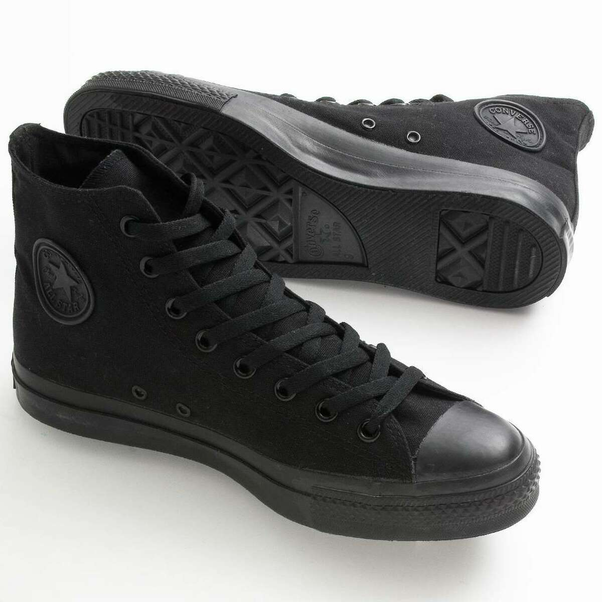 STEALTH STEPS: Whether you're channeling a vampire or a werewolf, black Converse All-Stars have the right spirit. They're available at Kohl's. (Kohl's)
