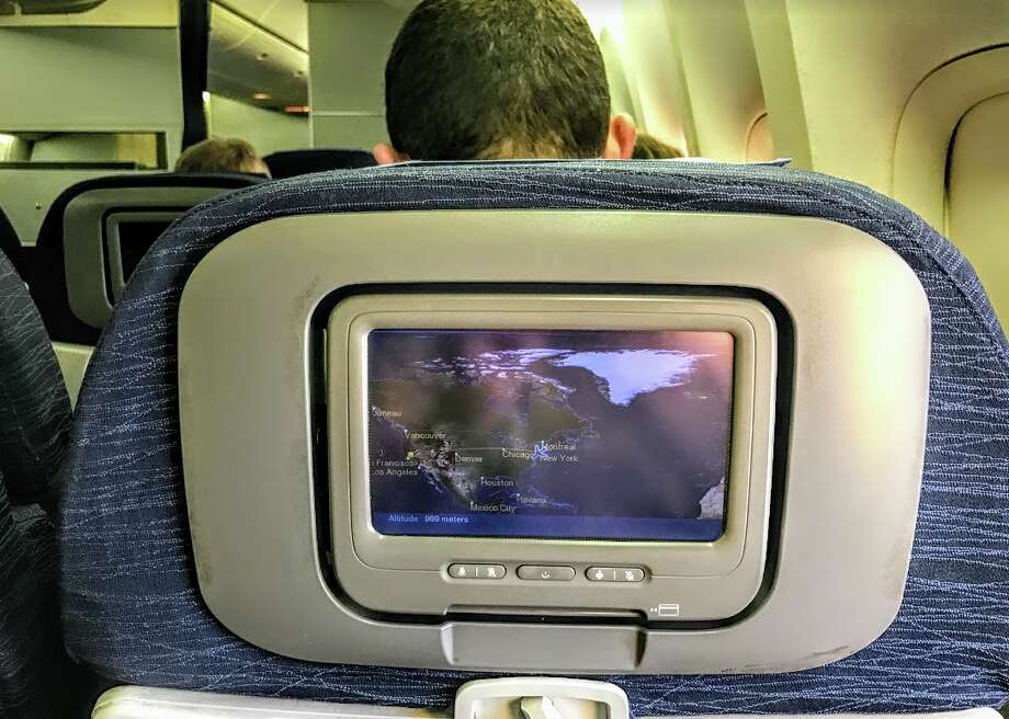 Some United flights offer both seatback live TV and personal device options Photo: Chris McGinnis