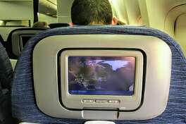 Some United flights offer both seatback live TV and personal device options