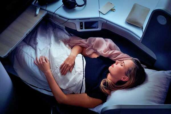 A lie-flat sleeper suite in Air Canada's new Signature Class.