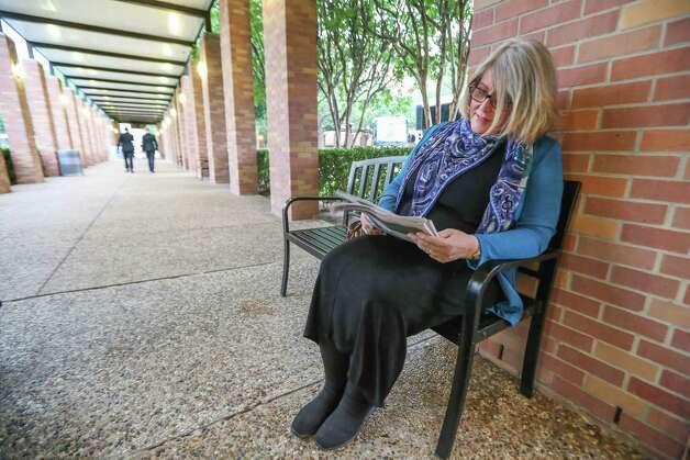 Gail Linkins from Alabama was the first person in line for a shuttle buses at Second Baptist Church campus to Former First Lady Barbara Bush's funeral Saturday, April 21, 2018, in Houston. Linkins worked with the Bush family in the early 80's and wanted to make sure she was on time for the funeral. Photo: Steve Gonzales, Houston Chronicle / © 2018 Houston Chronicle