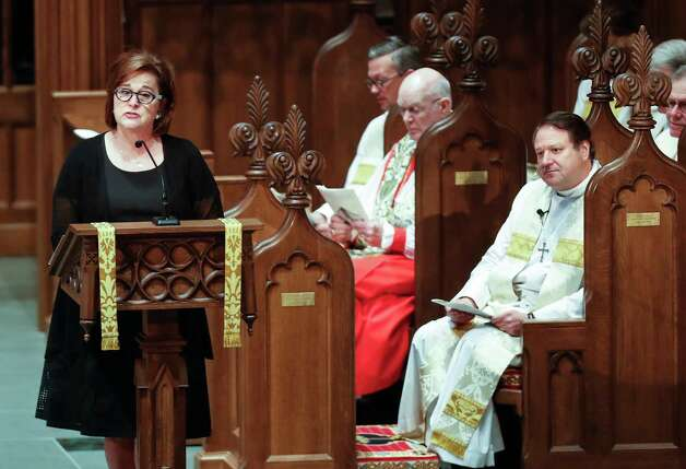 "Dorothy ""Doro"" Bush Koch speaks during the funeral for her mother, former first lady Barbara Bush at St. Martin's Episcopal Church on Saturday, April 21, 2018, in Houston. Photo: Brett Coomer, Houston Chronicle / © 2018 Houston Chronicle"