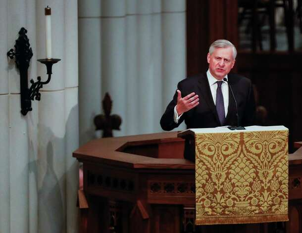 Jon Meacham speaks during the funeral for former first lady Barbara Bush at St. Martin's Episcopal Church on Saturday, April 21, 2018, in Houston. Photo: Brett Coomer, Houston Chronicle / © 2018 Houston Chronicle
