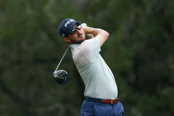 SAN ANTONIO, TX - APRIL 21:  Andrew Landry plays his shot from the fifth tee during the third round of the Valero Texas Open at TPC San Antonio AT&T Oaks Course on April 19, 2018 in San Antonio, Texas.