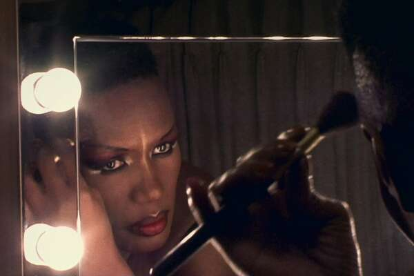 "A scene from Sophie Fiennes' documentary ""Grace Jones: Bloodlight and Bami."""
