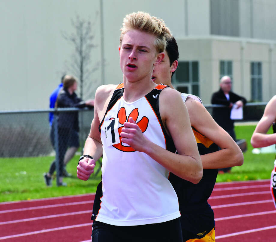 Edwardsville sophomore Jack Pifer runs to a win in the 3,200-meter run.