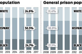 The percent of the Texas prison ad seg population that is African-American has increased over the past decade, even as the total number of prisoners in ad seg has decreased significantly.