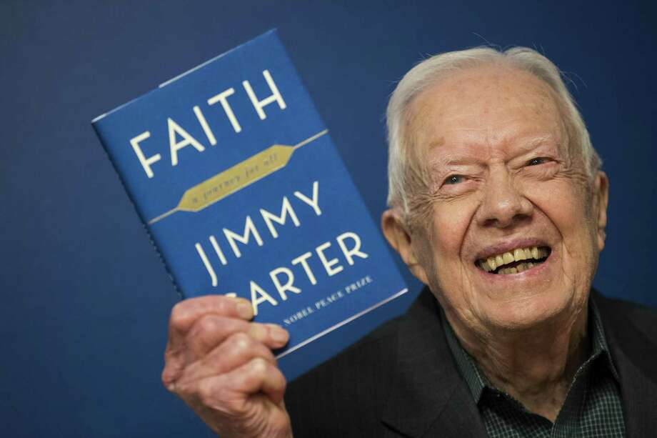 """Former U.S. President Jimmy Carter, 93, has been a prolific author since leaving office in 1981, publishing dozens of books. His latest is """"Faith."""" Photo: Drew Angerer, Staff / Getty Images / 2018 Getty Images"""
