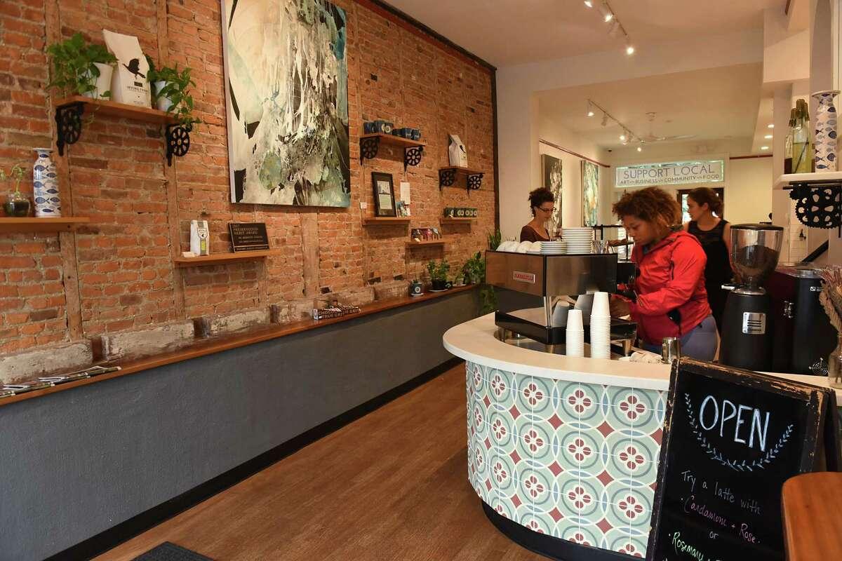 Interior of 3Fish Coffee on Wednesday, Sept. 6, 2017 in Albany, N.Y. (Lori Van Buren / Times Union)