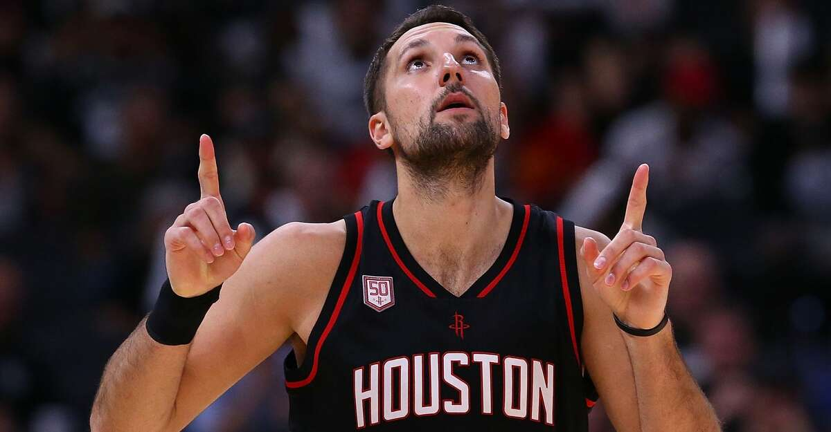 Rockets' Ryan Anderson made his 2018 playoff debut in Game 3 against the Minnesota Timberwolves.