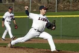 Foran pitcher Richard Piscitelli on the mound during baseball action against Fairfield Prep in Milford, Conn., on Friday Apr. 20, 2018.