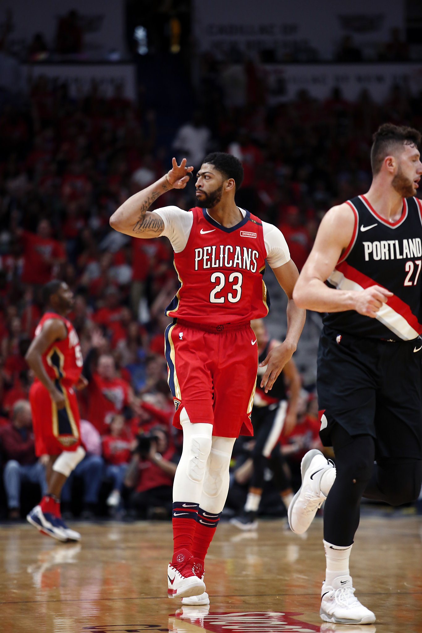 46f30892d43 Anthony Davis scores 47 points to lead Pelicans to sweep of Blazers - SFGate