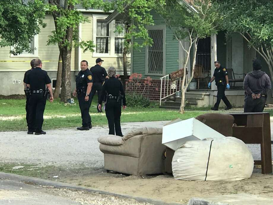 San Antonio police say a woman was stabbed early  Saturday evening, April 21, 2018, after a confrontation with a group of neighbors on the near North Side. Photo: Alex Luna