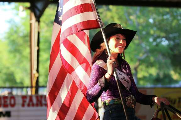 Alana Williams, the 2017 Miss Rodeo, takes a final ride as queen at the Cleveland Pro Rodeo on Saturday, April 14, at Stancil Exposition Center in Cleveland.