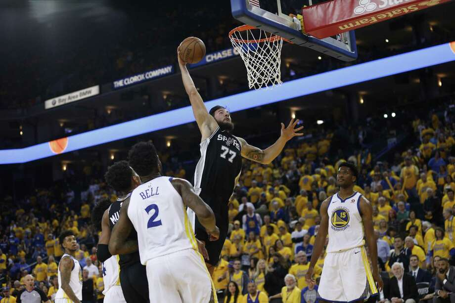 Spurs center Joffrey Lauvergne missed the last two games after a death in his family. He finished with two points in Game 1. Photo: Santiago Mejia / The Chronicle / ONLINE_YES